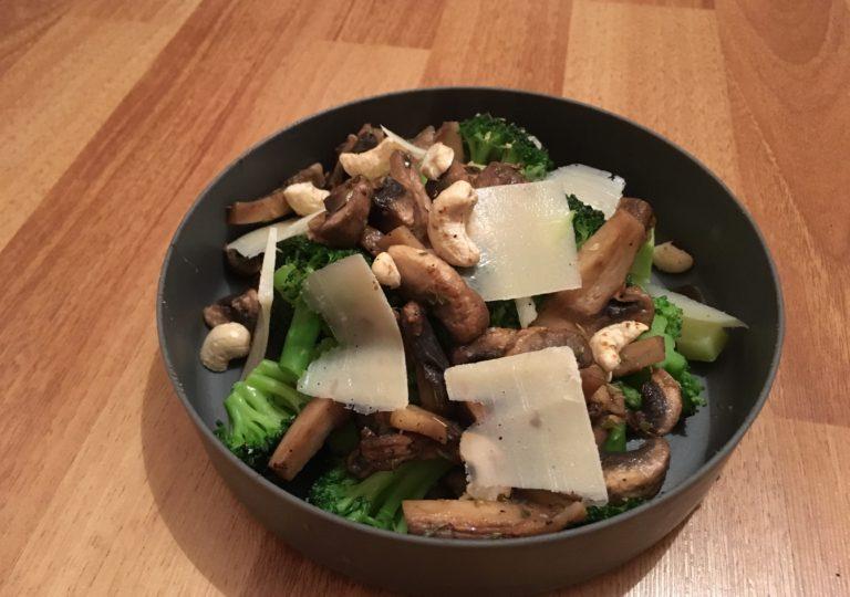 Broccoli-Pilz-Teller